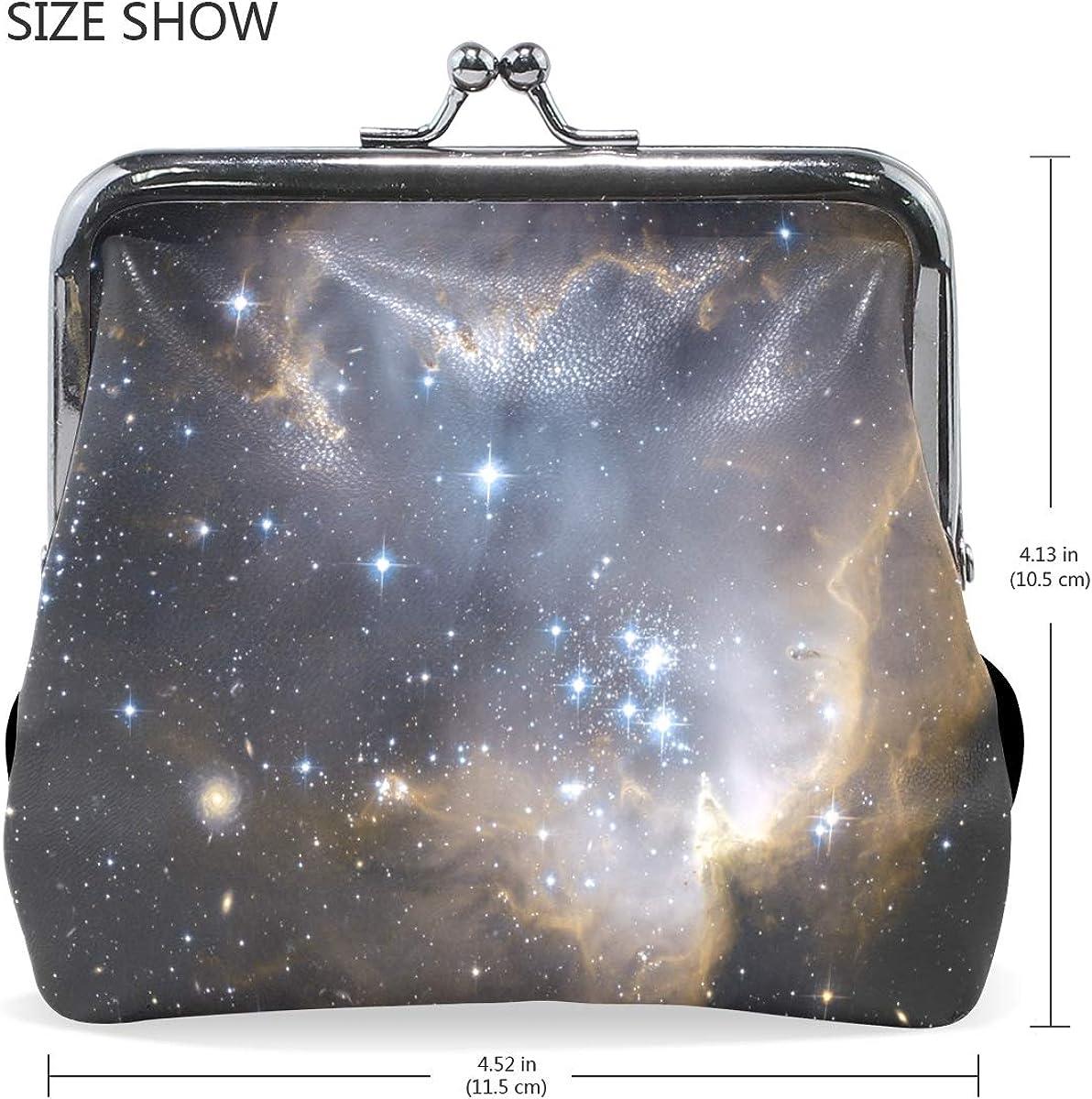 Fashion Womens Coin Purse Nebula Star Space Vintage Pouch Mini Purse Wallets