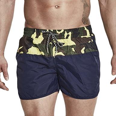 Lvguang Bañadores Casual Pantalones Cortos para Hombre ...