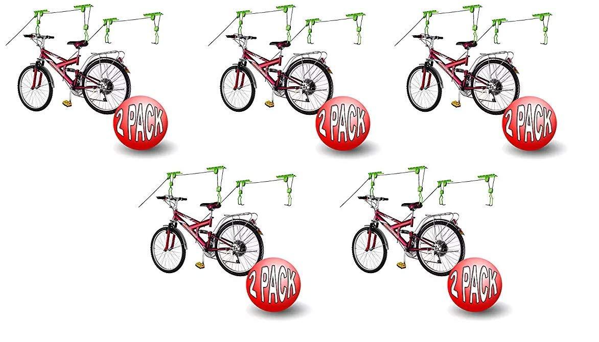 2011 Bike Lane Bicycle Storage Lift Bike Hoist 100LB Capacity Heavy Duty 2 Pack Fivе Расk