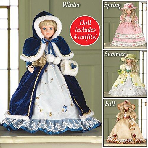 Porcelain Christmas Doll - 8