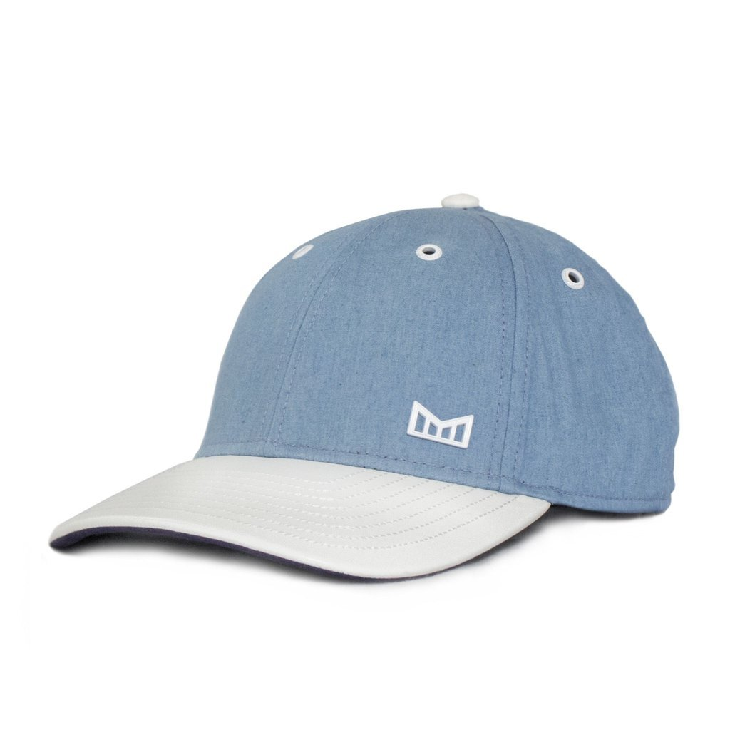 Melin White Cap Snapback Hat - Chambray