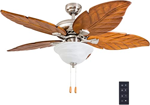 Prominence Home 50769-01 Rosemary Tropical Ceiling Fan 3 Speed Remote