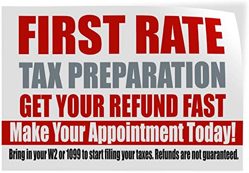 Decal Sticker Multiple Sizes Income Taxes Business Income Taxes Outdoor Store Sign White Set of 2 52inx34in
