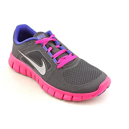 newest d5237 04df1 Nike Free Run 3 (GS) Girls Running Shoes 512098-004 Black 3.5 M