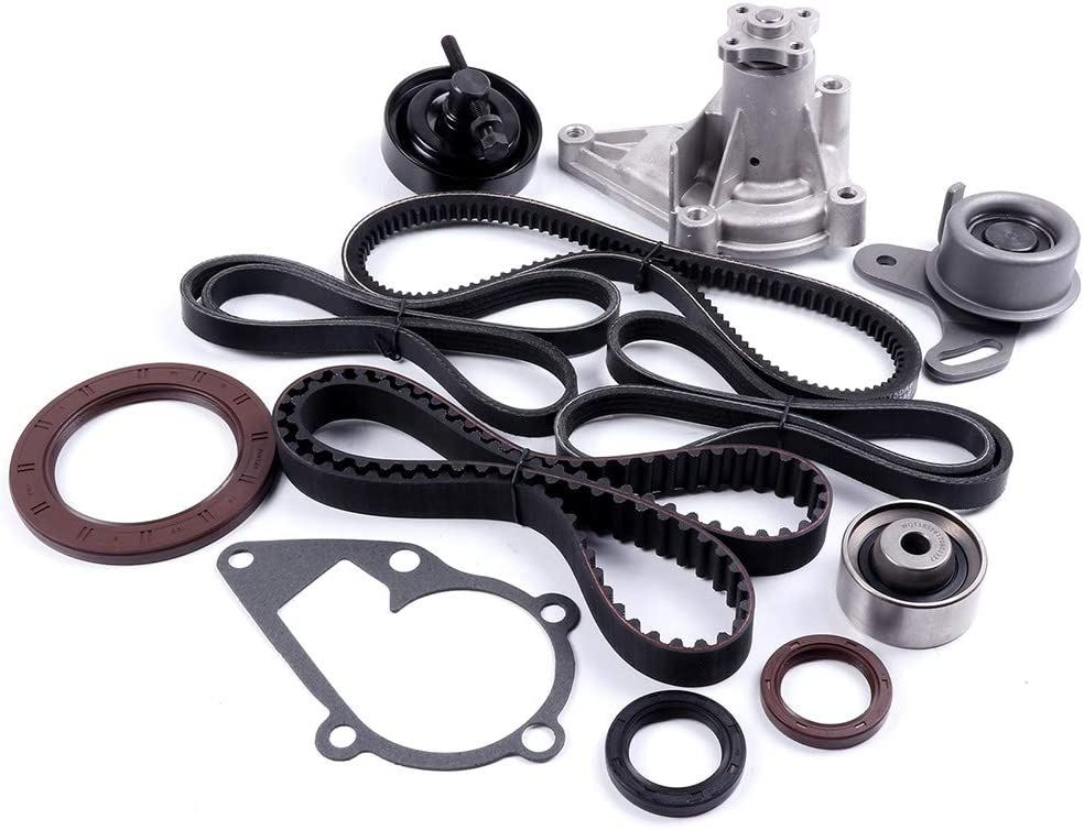 MOCA Timing Belt Kit with Water Pump Kit for 1995-1999 Kia Sportage 2.0L DOHC L4 16V Code FE