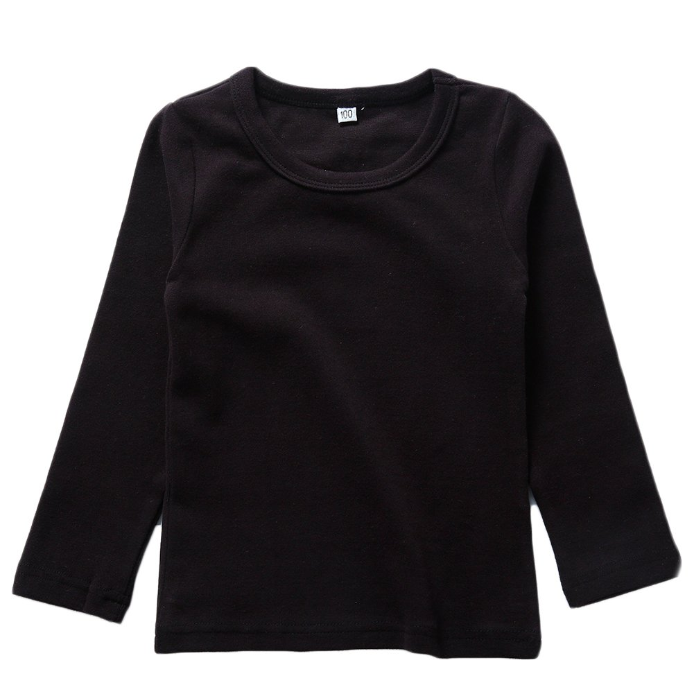34e1b48c Amazon.com: KISBINI Unisex Girls 100% Cotton Long Sleeve T-Shirt Top Tees:  Clothing