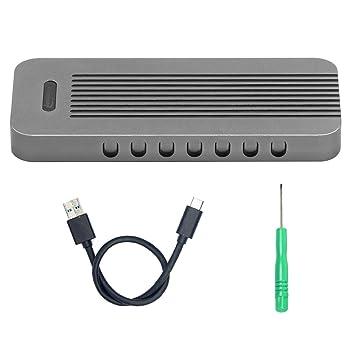 YIKESHU M.2 NVMe SSD a USB Type C Adaptador, Tipo C M.2 SSD Carcasa HDD Carcasa de Disco Duro Diseño de Casos para PC de Escritorio