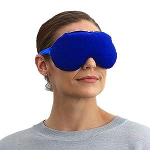 SensaCare Lavender Eye Mask for Sleeping | Sleep Better with Lavender Eye Cover | Eye Pillow for Yoga & Meditation (Blue)