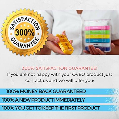OVEO Dosificador de Comprimidos Semanal - Pastillero Semanal Caja de Medicina Organizador de Pastillas con 28 Compartimentos: Amazon.es: Salud y cuidado ...
