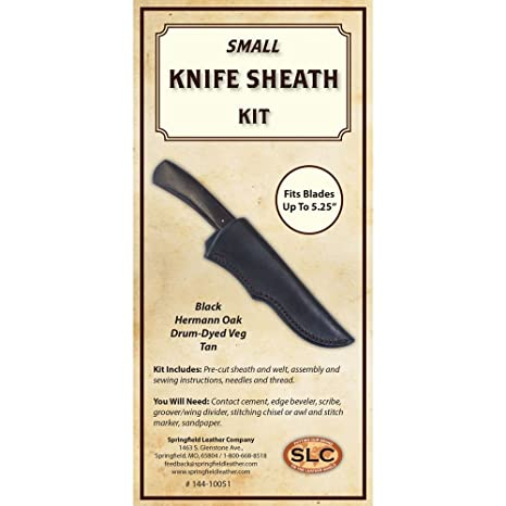 Amazon com: Knife Sheath Kit Herman Oak Drum-Dyed (Brown, Small 5 25