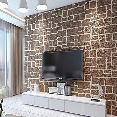 Papel pintado 3d Moderno minimalista nórdico antiguo muro de ladrillo de papel pintado de piel de