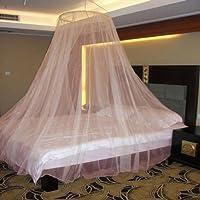 Neruti Enterprise Nylon Adults Double Bed (Round) Mosquito Net(Orange)