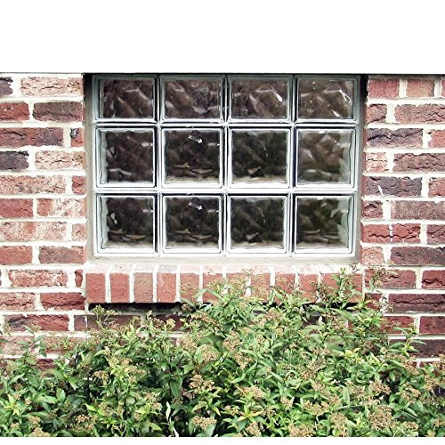 REDI2SET Wavy Glass Pattern Frameless Replacement Glass Clear Block Window (Rough Opening: 23.75-in x 14-in; Actual: 23.25-in x 13.5-in)