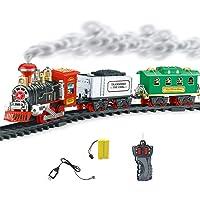 Xuanyang Tren Ferroviario Eléctrico Juguete, Humo Eléctrico Control