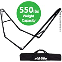 Zupapa 550lbs Weight Capacity Steel Hammock Stand, 2 Person