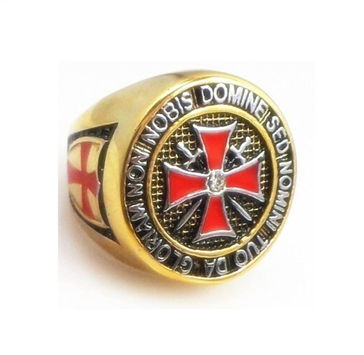 Deluxe Adult Costumes - Knight Templar Gold Stainless Steel Ring