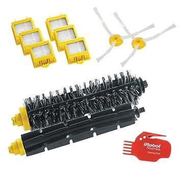 iRobot 4503462 Robot aspirador Filtro y cepillo accesorio y suministro de vacío - Accesorio para aspiradora (Robot vacuum, Filtro y cepillo, Negro, ...