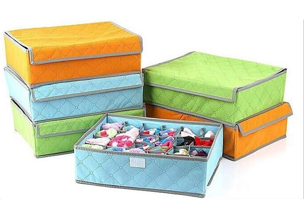 VADOLY Foldable Socks Bra Underwear Towel Storage Bamboo Charcoal Locker Finishing Bags 3 Kinds of Lattice