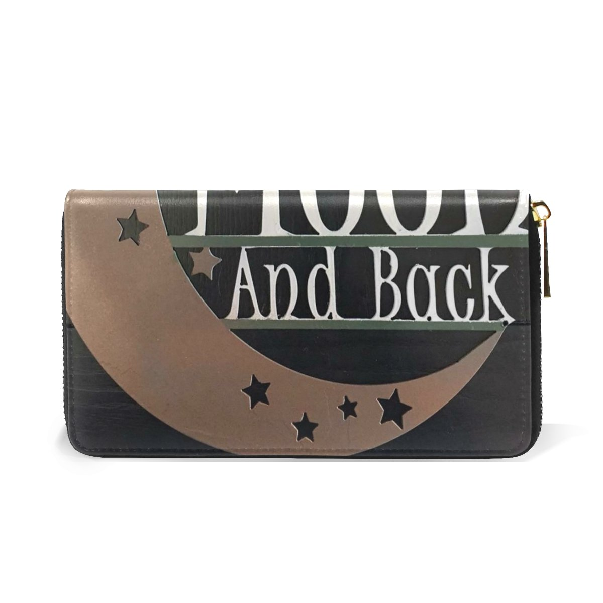 MaMacool I Love You To The Moon And Back Women's Zipper Wallets Genuine Leather