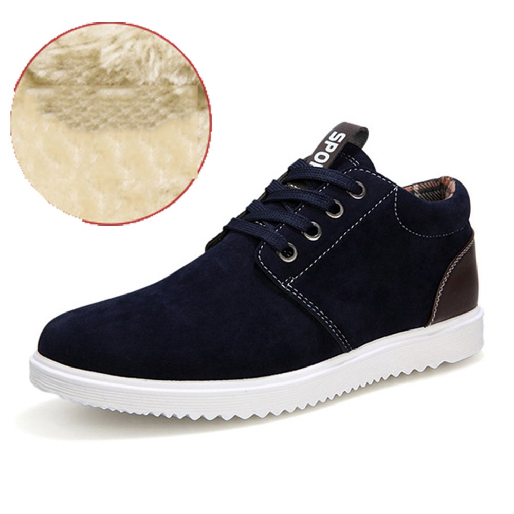 AARDIMI Herren Sneakers Fruuml;hling und Herbst Herren Freizeitschuhe Freizeit Winter Pluuml;sch Fuuml;r Mauml;nner Schuhe Plus Brish Fashion Trend  42 EU Schwarz 2