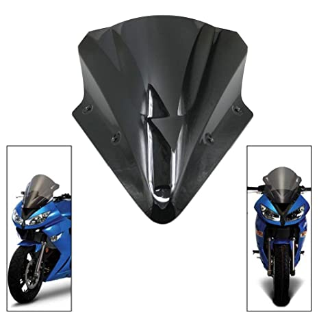 Amazon.com: Motoparty Motorcycle Windscreen Windshield For ...