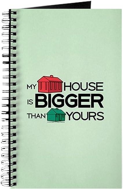 CafePress – Monopoly – My House is Bigger – Cuaderno de espiral para diario, diario personal, diario de tareas: Amazon.es: Oficina y papelería