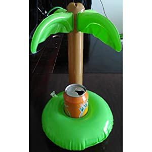 Hot Palm Trees Floating Inflatable Drink Can Holder For Cola Cupcell Phoneremote Controller Summer Pool Swim Toy