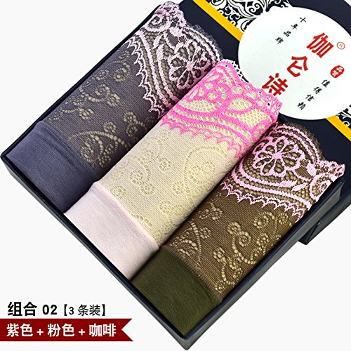 Fibra de bambú señoras sexy Underwear underwear briefs cintura alta cintura tamaño 3pcs,o,m Greatlpk c