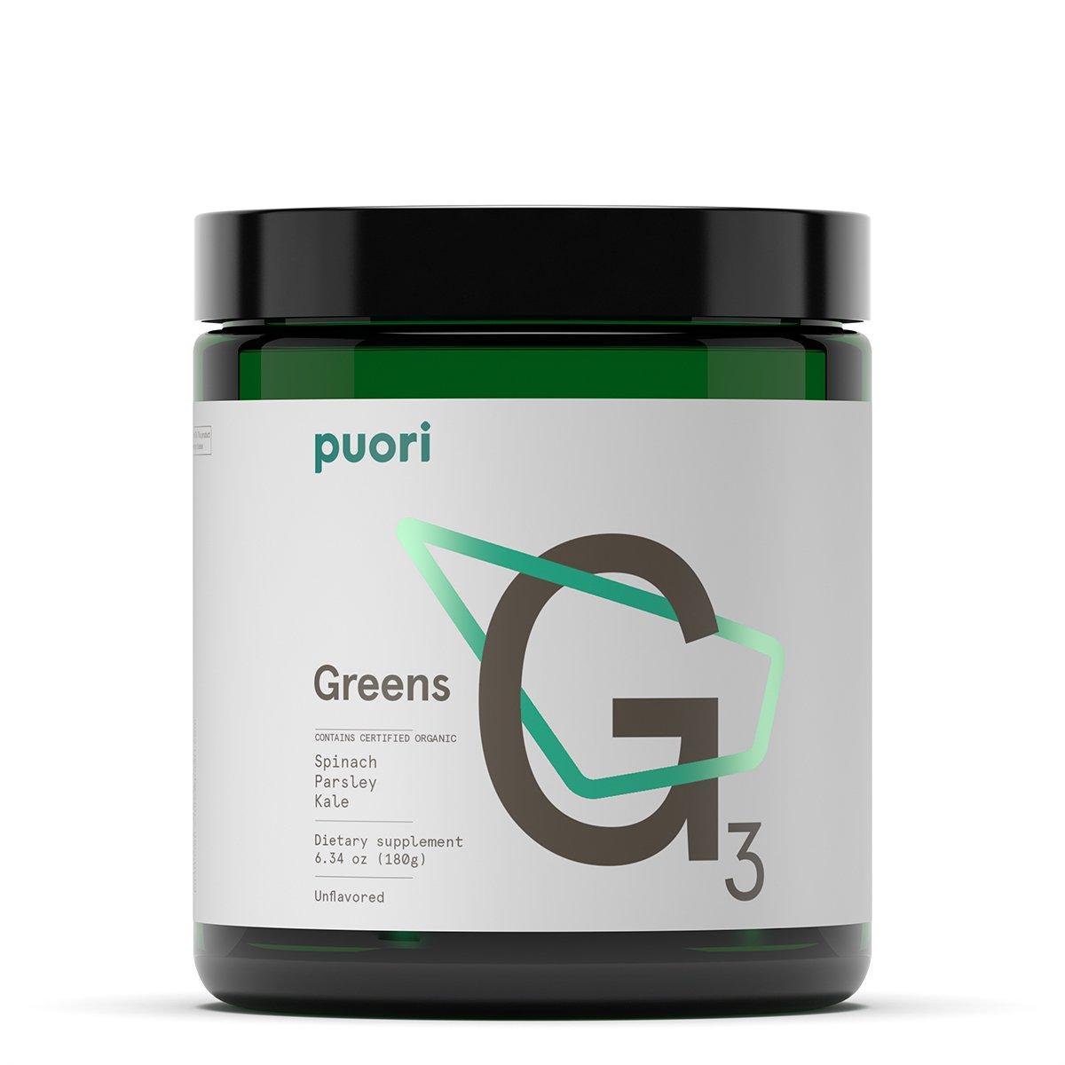 G3 Organic Green Powder [ Kale, Spinach, Parsley ] | 7.93oz (225g) | 30 Vegan Servings