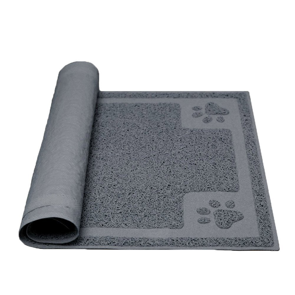 Grey Darkyazi Pet Feeding Mat large for Dogs and Cats,24 ×16  Flexible and Easy to Clean Feeding Mat,Best For Non Slip Waterproof Feeding Mat. (Grey)