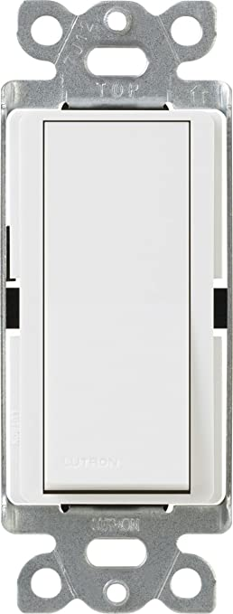 Lutron CA3PSWH Diva 15Amp 3Way Switch White Wall Light