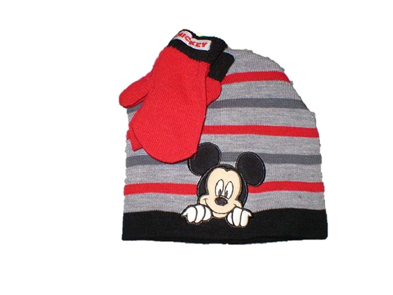 73dfee45fe6f2 ... best price amazon disney toddler mickey mouse hat and mittens clothing  7448e efb0c