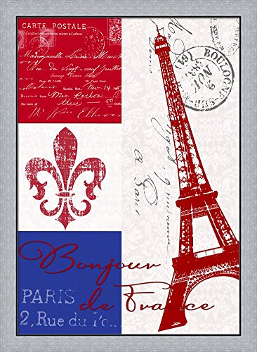 Amazon.com: Bonjour de France by Andrea Haase Framed Art Print Wall ...