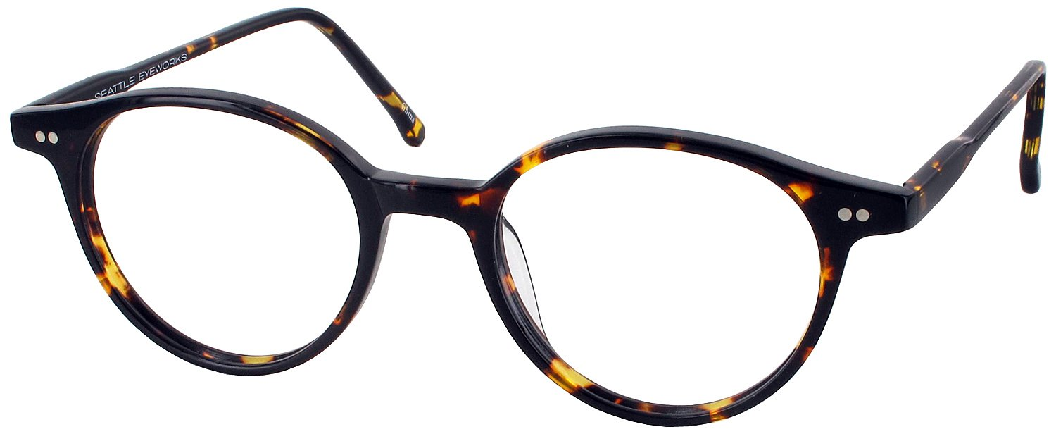 Seattle Eyeworks 950 Progressive No Line Bifocal Designer Reading Glasses, Dark Tortoise, +1.00