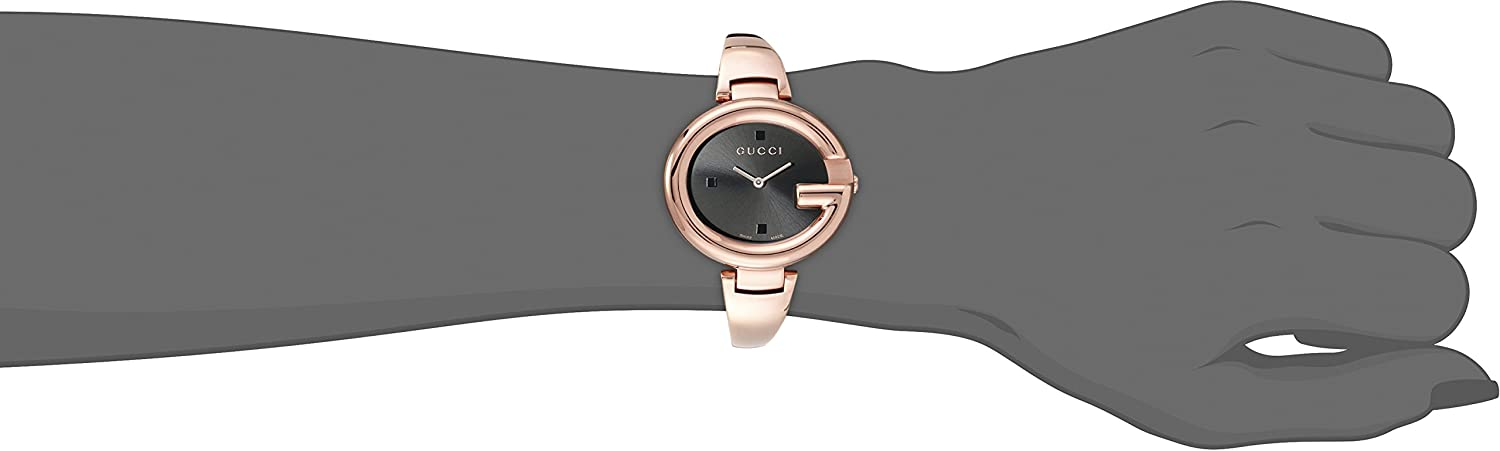 bf8c1dad91f Amazon.com  GUCCI Guccissima Collection Analog Display Swiss Quartz Rose  Gold Women s Watch(Model YA134305)  Watches