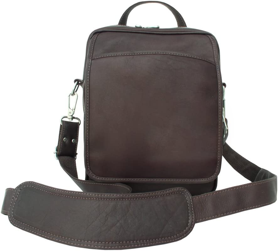 Piel Leather Traveler s Carry-All Bag, Chocolate, One Size