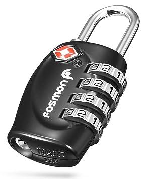 545c4d98e0 Amazon.co.jp: Fosmon (1個セット) TSAロック ダイヤル式ロック 南京錠 ...