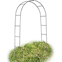GZYF 7.9 Ft Garden Arbor Archway Green Metal Wedding Party Garden Arch 240 cm