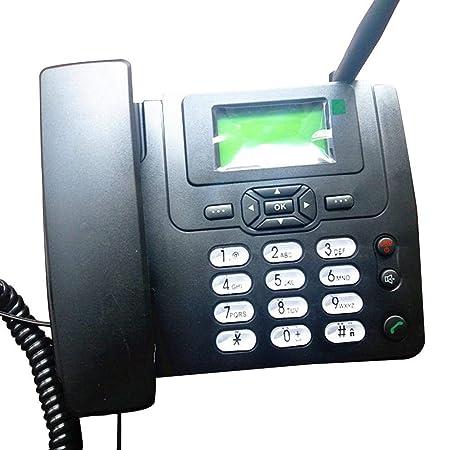 Dect Telefon f/ür Hause oder B/üro Lychee Simkarte GSM Tischtelefon Schwarz//Wei/ß