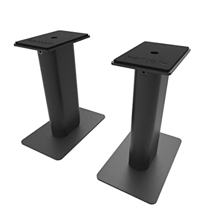 Kanto Sp9 9 Speaker Stands Designed For 3 To 4 Desktop And Bookshelf Speakers Reduced Vibration Heavy Steel With Foam Padding 30 Rotating