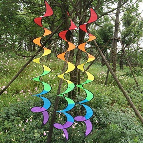 Genérico colorido: nuevo arcoíris en espiral molino de viento colorido Spinner tienda de campaña jardín hogar decoraciones arco iris viento Spinner: Amazon.es: Hogar
