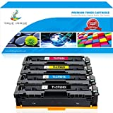 True Image 4 Pack Compatible for HP 202X 202A CF500X CF500A CF501X CF502X CF503X Toner Cartridge for HP LaserJet Pro MFP M281 M281fdw M281dw M281cdw M254dw M280nw Printer (Black,Cyan,Magenta,Yellow)