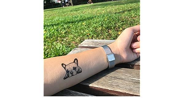 Tatuaje Temporal de Bulldog francés (2 Piezas) - www.ohmytat.com ...