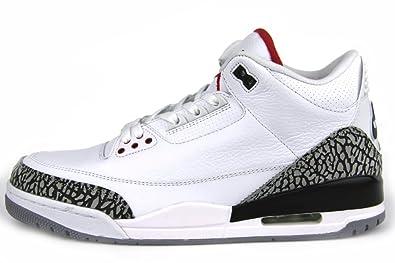 0cb4e12e3c87eb Nike Air Jordan 3  quot III quot  Retro 88 Sneaker s White Fire Red Cement  Grey