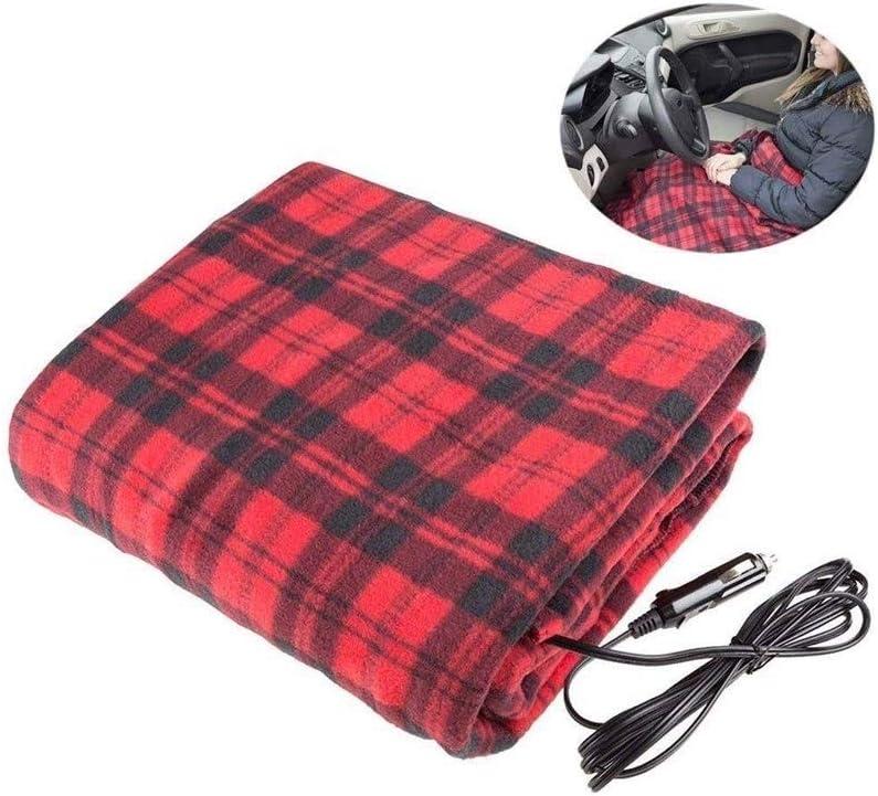 HUIXINLIANG Throw eléctrico, Manta de calefacción rápido, Grande for el Tiempo frío, Viajar - Tela Escocesa roja