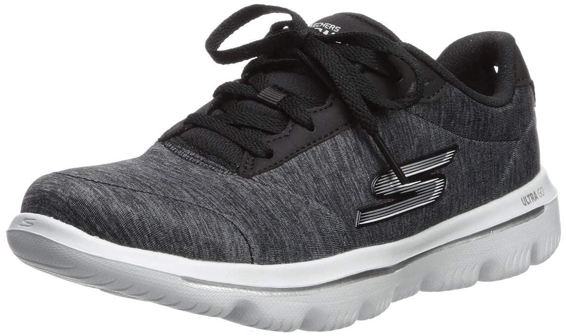 Black White Skechers Womens Go Walk Evolution Ultra - 15756 Sneaker