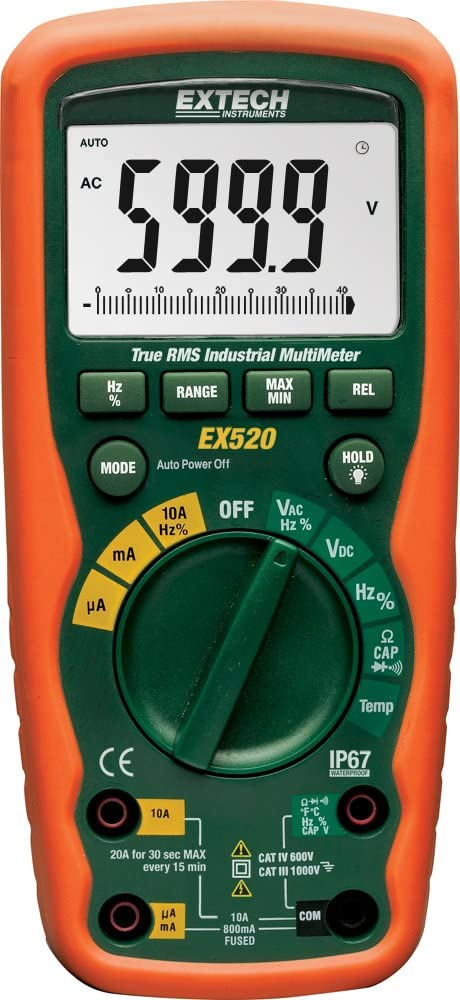 Oklahoma City Mall Extech EX520 Opening large release sale True RMS Multimeter Heavy Industrial Duty