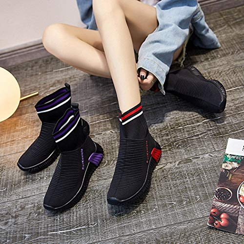 Zapatos Viaje elásticos Calcetines Zapatos Botas Zapatos Correr Botas Casuales Zapatos Señoras gules Cortas Lucdespo de Altas para 0wqp4Yqx
