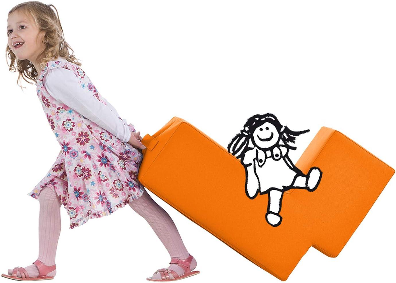 violett L/ümmel Polsterhocker zum Sitzen Loungem/öbel /& Spielm/öbel f/ür Kinder und Erwachsene Spielen und Rumtoben