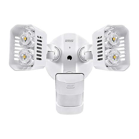 Sansi Nueva tecnología focos LED exterior con sensor de movimiento 18w, 1800lm, 5000k,